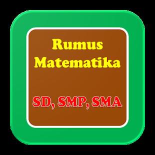Rumus Matematika Lengkap Untuk SD SMP SMA - náhled