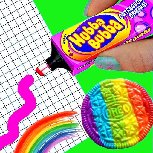 Как сделать канцелярию в виде сладостей