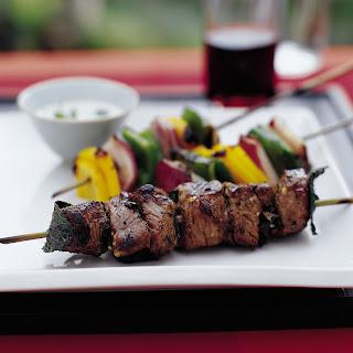 Turkish Shish Kebabs with Garlicky Tahini.