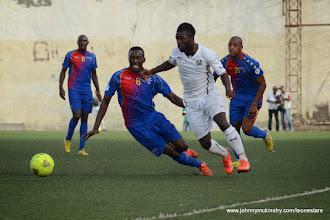 Photo: Abdulai Bell-Baggie (Leone Stars) makes his international debut [vs. Cape Verde, June 2013 (Pic: Darren McKinstry)]