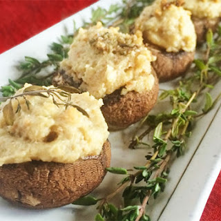 Vegan Cheese Stuffed Mushroom