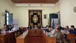 Sesión plenaria celebrada en Níjar.