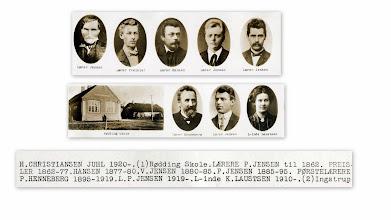Photo: Lærere i Rødding til 1919