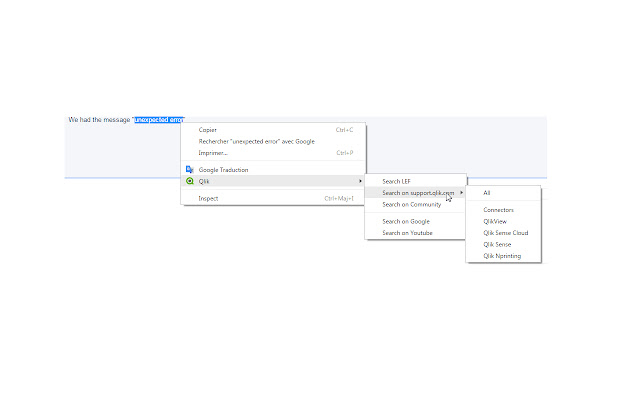 Qlik Extension for Chrome