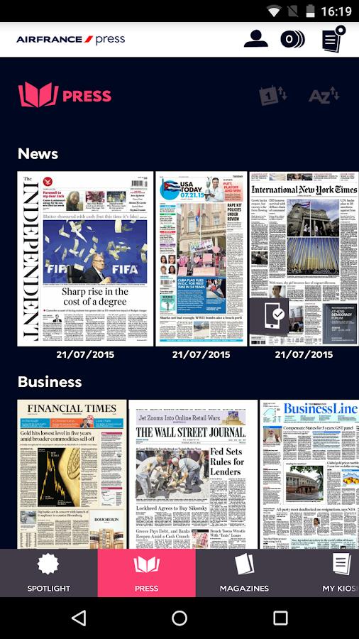 Air France Press- screenshot