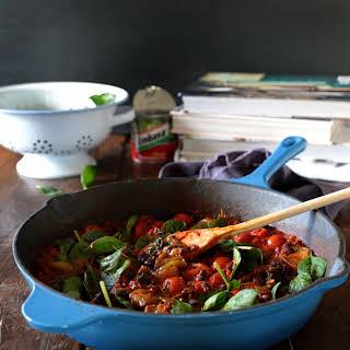 Black Beans and Tomatillos.