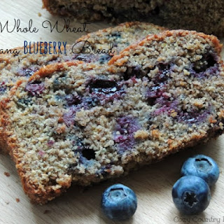 Whole Wheat Banana Blueberry Bread.