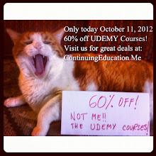Photo: Only today - October 11th 2012, 60% off! Not me!! The Udemy Courses! Find more at ContinuingEducation.Me Hard to involve a cat in Continuing Education! #intercer #cat #pet #cats #pets #meow #petsofinstagram #beautiful #cute #cutie #animal #picpets #sweet #kitty #kitten #catlovers #mouth #learn #education #continue #school #teach #books #programming #learning #college - via Instagram, http://instagr.am/p/Qp7HRSpflI/
