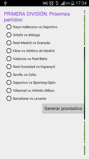 Pronóstico Futbol 1ª División