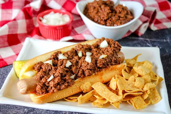 You Saucey Little Dog Sauce On A Hot Dog.