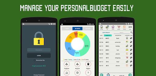 Personal money management and budget tracking application