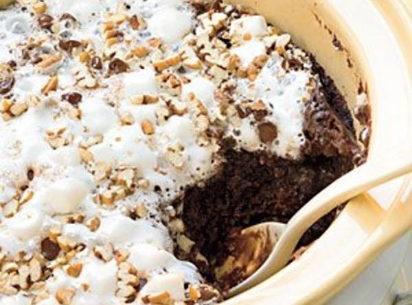 Rocky Road Crock Pot Cake Recipe