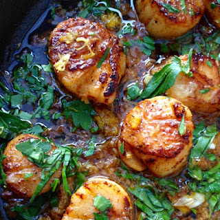 Garlic Scallops Recipe ( Healthy )