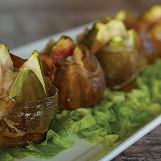 Baked Figs Wrapped in Prosciutto and Gorgonzola Recipe