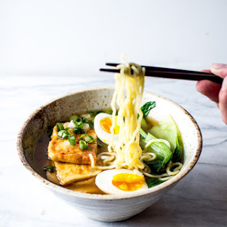 CHILI GLAZED TOFU with MISO RAMEN Recipe