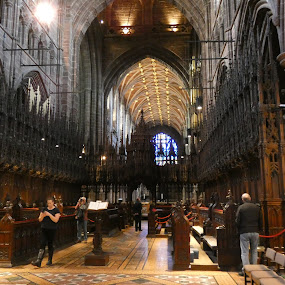 Chester cathedral  by Judy Boyle - Buildings & Architecture Places of Worship ( church aisle,  )