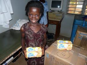 Photo: son sourire est le plus beau remerciement aux donateurs