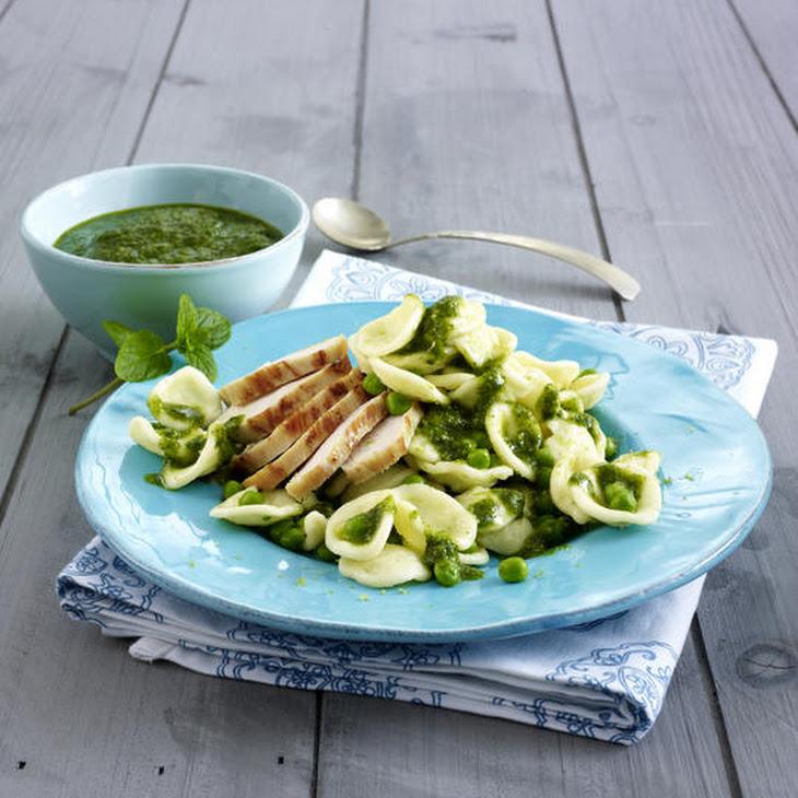 Orecchiette Pasta with Mint and Almond Pesto Recipe | Yummly