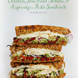 Chicken, Sun-dried Tomato, & Asparagus Pesto Sandwich