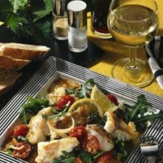 Fischfilet mit Tomaten & Rucola