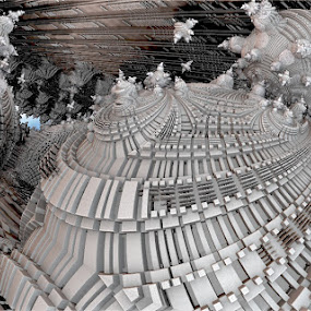 Winter castle by Linda Czerwinski-Scott - Illustration Abstract & Patterns ( abstrait, fantaisie, fractal, design )