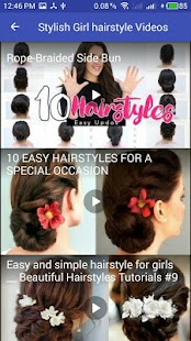 hairstyle 2018  For Stylish Girl At Home - náhled