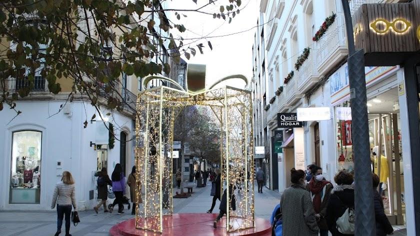 Decoración navideña en las calles de Almería, las pasadas fiestas.
