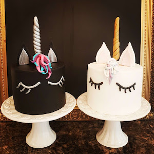 Black And White Unicorn Cakes By Lilli Oliver Cakes