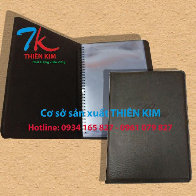 Nhà sản xuất bìa trình ký, bìa đựng bằng, bìa kẹp hồ sơ, cung cấp cuốn thực đơn, bìa kẹp tiền,
