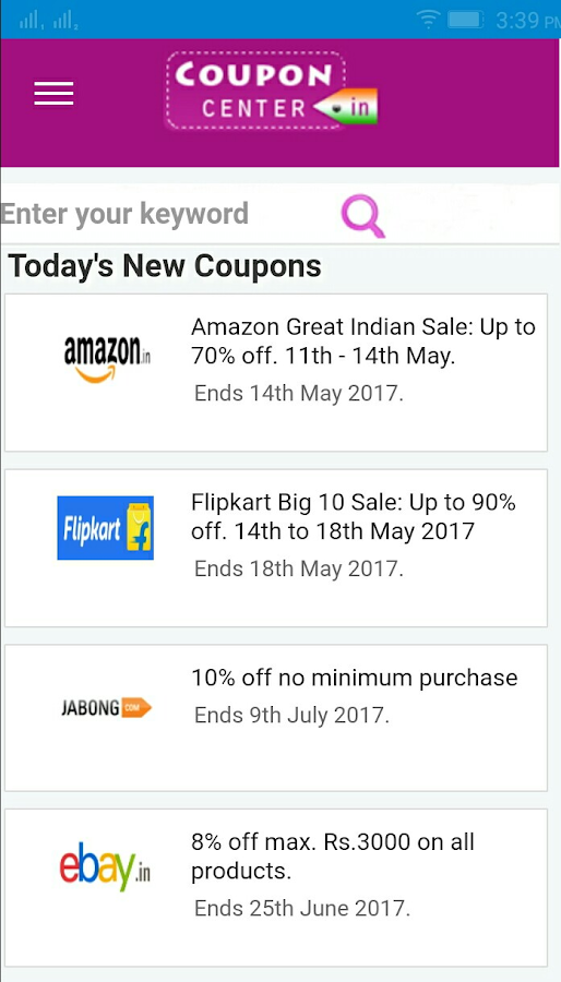 CouponCenter-Coupons & Offers- screenshot
