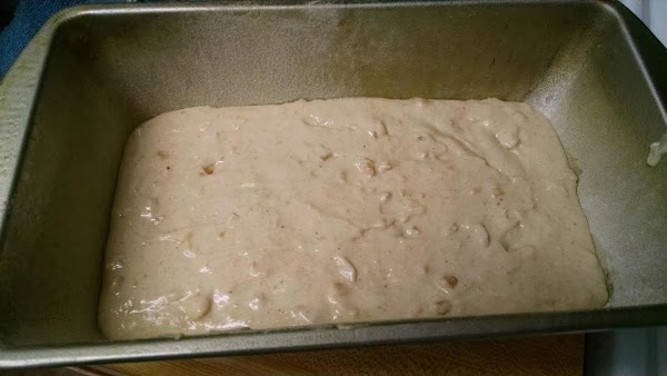 Spread batter into an 8-inch greased and floured loaf pan and bake in a...