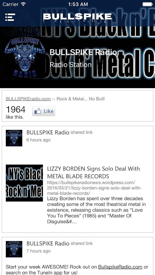 Bullspike Radio- screenshot