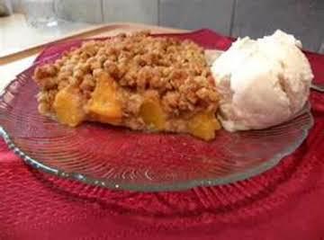 My Peach Crisp By Freda