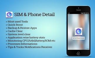 Screenshot of SIM Phone Details