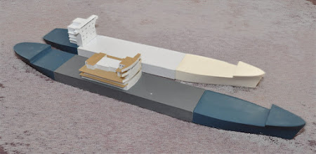 Photo: 450' Container ship and 500' Break Bulk Freighter