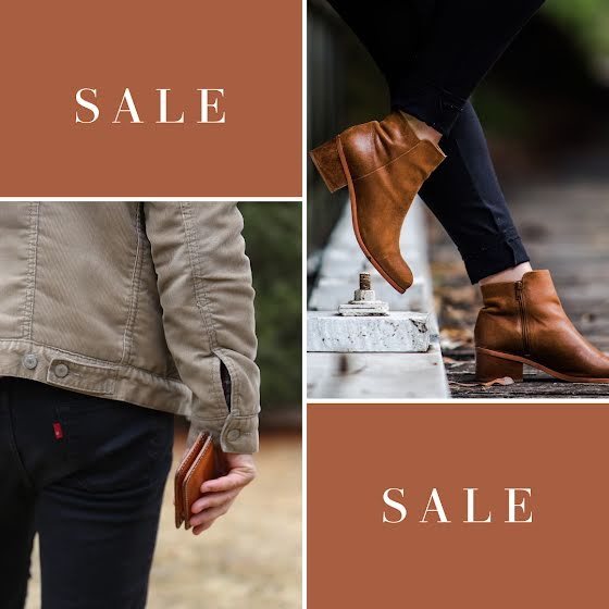Men's Leather Goods Sale - Instagram Post Template