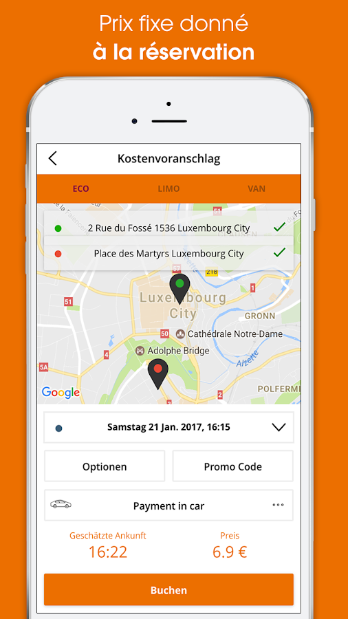Webtaxi- screenshot