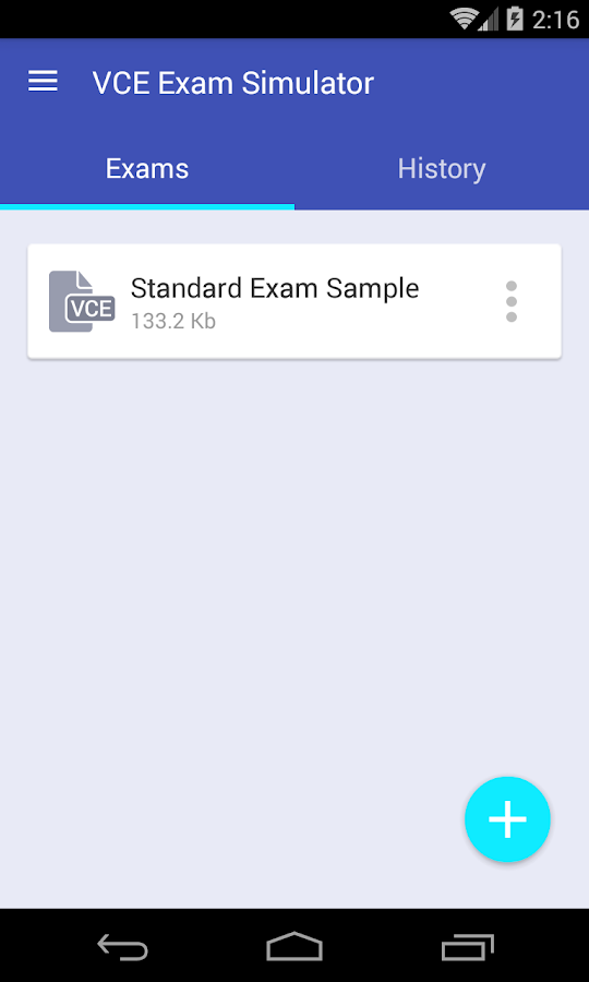 VCE Exam Simulator- screenshot