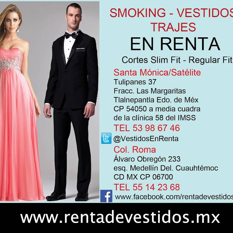 7dcff6870 Smokings Vestidos en Renta Windsor y Angélica - Tienda De Esmóquines ...