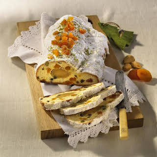 Apricot, Pistachio and Marzipan Stollen.