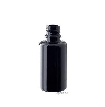 Glasflaska 100 ml - mörklila
