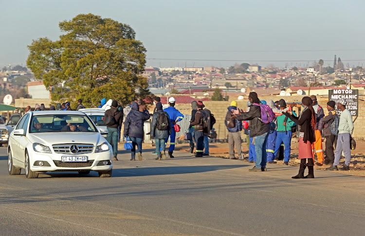 Commuters across Gauteng have been left stranded as the taxi industry embarks on a shutdown on June 22 2020 in the province after a stalemate between the government and the industry regarding the relief fund offered.