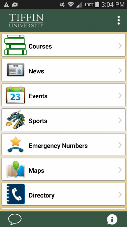TU Mobile - Tiffin University- screenshot