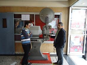 Photo: Ahmad Abdalla & actor: Atef Yousef in JCC, Tunisia 2010.