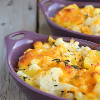 Cauliflower, Potato & Cheddar Bake