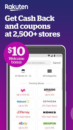 Rakuten Ebates - Cash Back, Coupons & Promo Codes  screenshots 1
