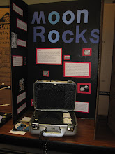 Photo: Lunar Samples on loan from the US Space & Rockets Center, Huntsville, Alabama. (Note the dramatic handcuffs ;)