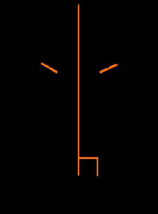 Luas segitiga bersudut tegak sepanjang kaki dan sudut bersebelahan