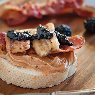 The Elvis Peanut Butter and Fried Banana Sandwich with Bacon.