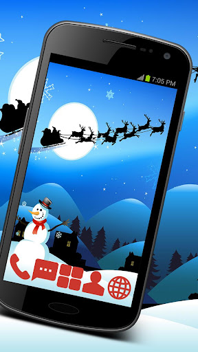 Santa and Snowman Theme GO ADW